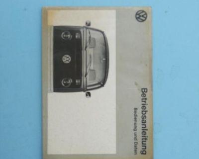 German Owners Manual 1973 VW Bus Bedienung