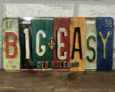 Big Easy Metal License Plate New Orleans Car Tag Louisiana Color Embossed 12