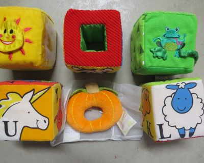 Rattles and Touch and feel Fabric Blocks