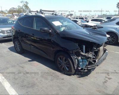 Salvage Black 2014 Hyundai Tucson