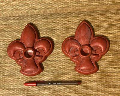 Fleur De Lis Candle Holders