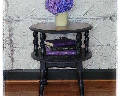 Solid wood two tier table
