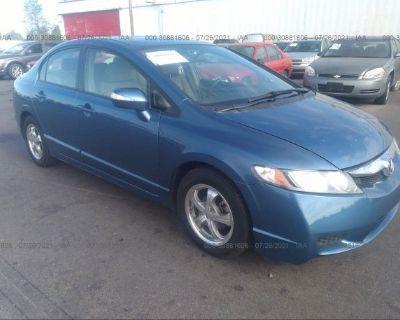 Salvage Blue 2010 Honda Civic Hybrid