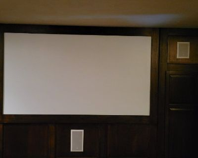 Complete Home Theater, Screen, Projector and Mount