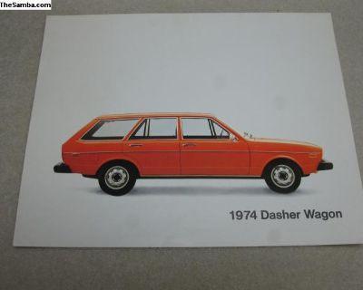 1974 Dasher Wagon spec sheet