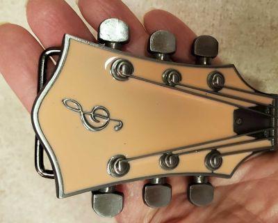 New pink guitar belt buckle