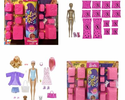 Barbie Day-to-Night Color Reveal Doll with 25 Surprises & Day-to-Night Transformation Beach to Party