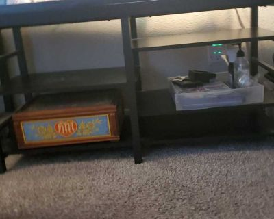 Tv stand w/ storage shelves