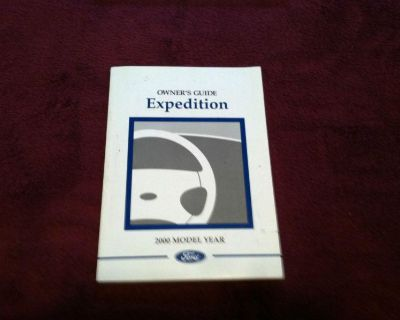2000 Ford Expedition Owner's Manual As Pictured