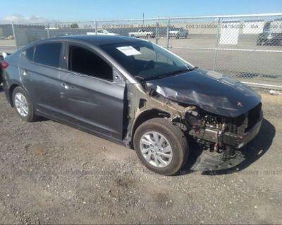 Salvage Gray 2018 Hyundai Elantra