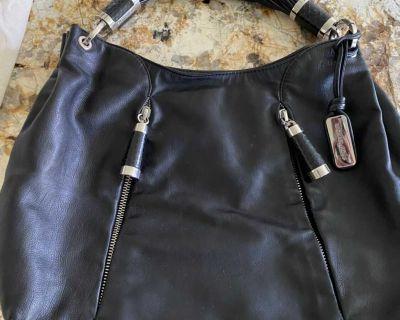 Michael Kors Collection Handbag Purse Black Leather