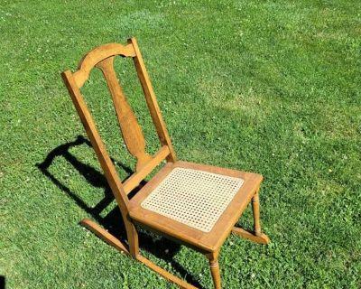 Cane bottom rocking chair