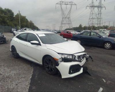 Salvage White 2019 Honda Civic Hatchback
