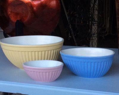 3 Piece Stoneware Bowl Set