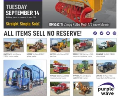 September 14 government auction