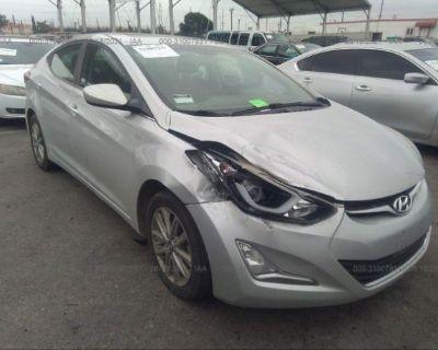Salvage Silver 2015 Hyundai Elantra