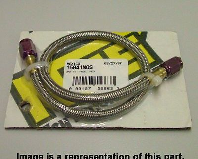 Nos 15051 18 In. Braided -3an Nitrous Hose Line Red