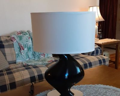 a set of living room or bedroom lamps with shades