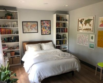 Queen size bed frame (almost new) + 2 year protection plan