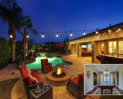 Oasis: Pool, Spa, Pool Table, Fire Pit, Patio TV - Indio