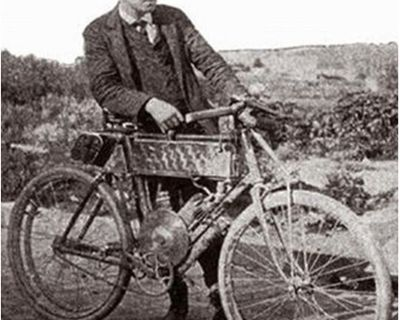 Following in the tire tracks of the first motorcyclist to cross the US - George A. Wyman