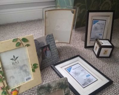 Bundle of picture frames. Some are new