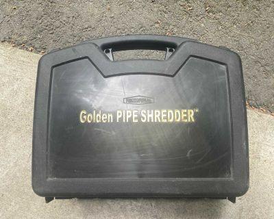 Plumbers plastic pipe shredder for rejointing