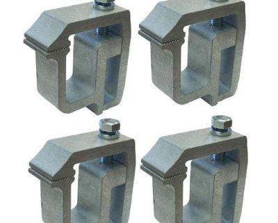 4 - E-z Heavy Duty Canopy Camper Shell No Drill Clamp - Universal Clamp Aluminum