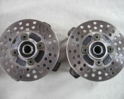 08 Yamah Raptor 700 Front Left Or Right Wheel Hub With Rotor 17c6