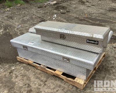 Lot of (3) Aluminum Tool Boxes