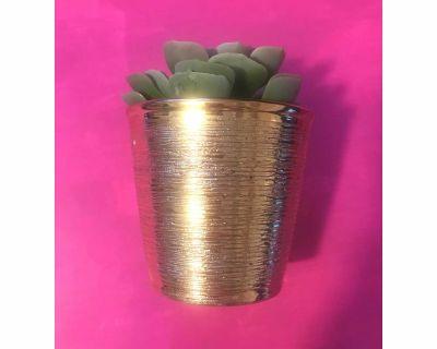 Gold flower pot/candle holder