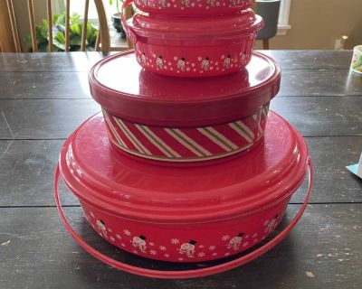 Christmas storage containers with lids