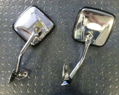 Polished Stainless Steel Mirror Kit For 87-95 Jeep Wrangler Yj (kentrol)
