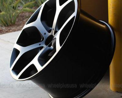 """20"""" Y Spoke Style Rims Matte Black Wheels Bmw X5 X6 Awd X-drive 20x9.5/20x10.5"""