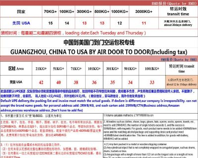 Off Guangzhou China to the USA DHL express, air and sea door to door transportation service