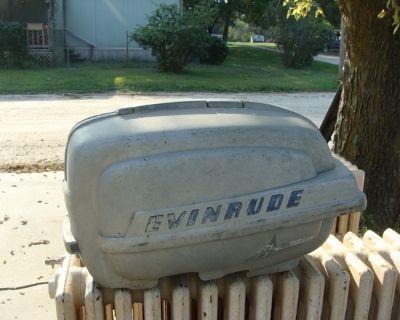 old Evinrude outboard motor hood