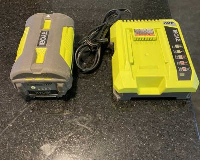 RYOBI 40V Lithium Battery and Charger