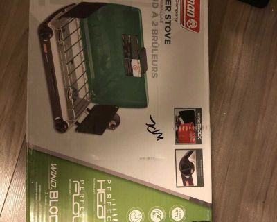 Coleman 2-burner stove. New (never used)