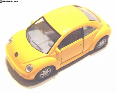 5 In. New Beetle Model Diecast Pullback Action Toy