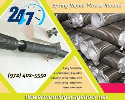 Professional Garage Door Spring Repair ($25.95) Flower Mound Dallas, 75022 TX