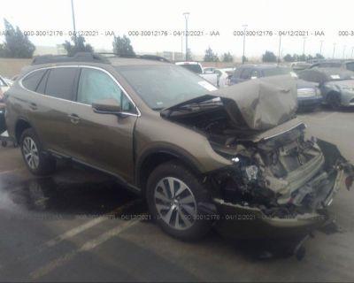 Salvage Green 2020 Subaru Outback