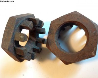 Large castle nut set / rear axle nuts