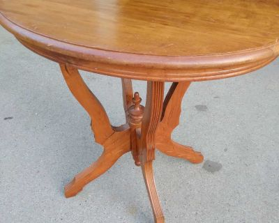 Pretty all wood accent table