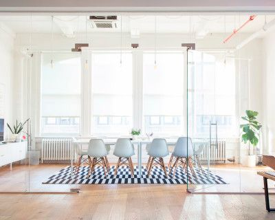 Bright Open Modern Penthouse Office and Event Space in Flatiron, New York, NY