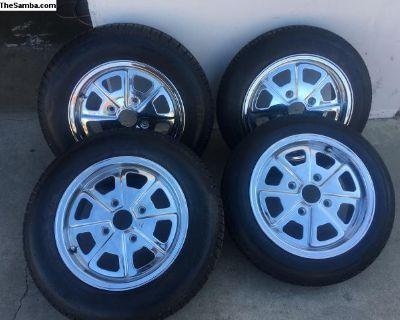 New 914 Replica Chrome Rims and Tires