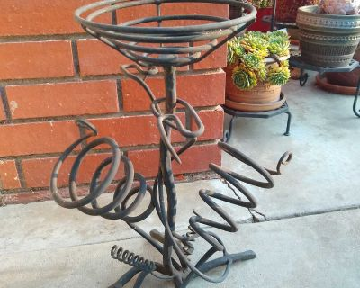 Unique Wrought Iron Plant Stand