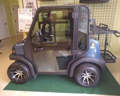 Ocean Blue Crown View II Golf Cart with A/C heat radio