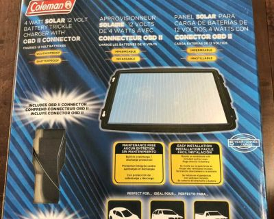 Portable Coleman solar battery charger