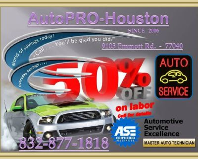 AUTO REPAIR for LESS at AutoPRO-Houston in JESREY VILLAGE TX