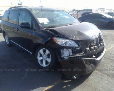 Salvage Black 2013 Toyota Sienna